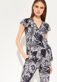 comma - PAISLEY - Jumpsuit - black aop - 1