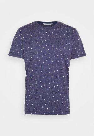 Print T-shirt - blue cactus design