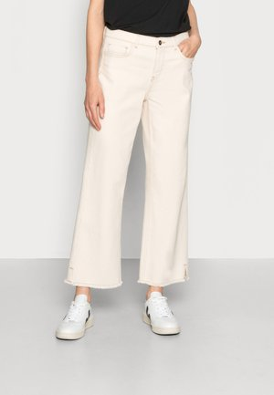 MOJO RAW PANT - Flared jeans - off white