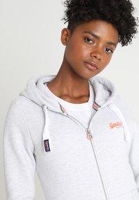 Superdry - LABEL ZIPHOOD - Zip-up sweatshirt - ice marl - 3