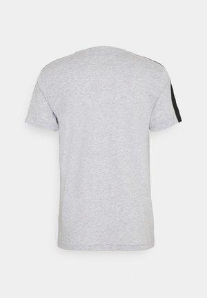 T-shirt z nadrukiem - silver chine/black