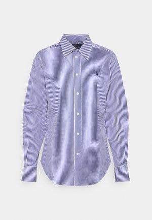 STRETCH - Button-down blouse - navy/white