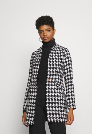 ONLCOLE CHECK COAT - Short coat - white/black