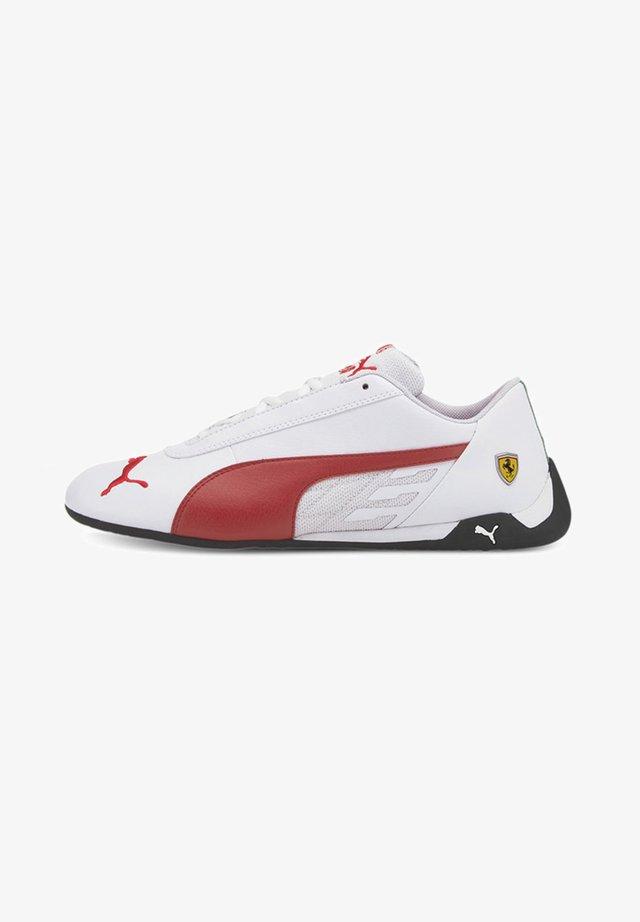 FERRARI R-CAT - Trainers - puma white-rosso corsa