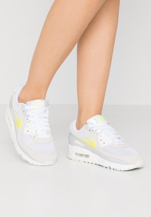AIR MAX 90 - Sneakers - white/lemon/pure platinum/sail