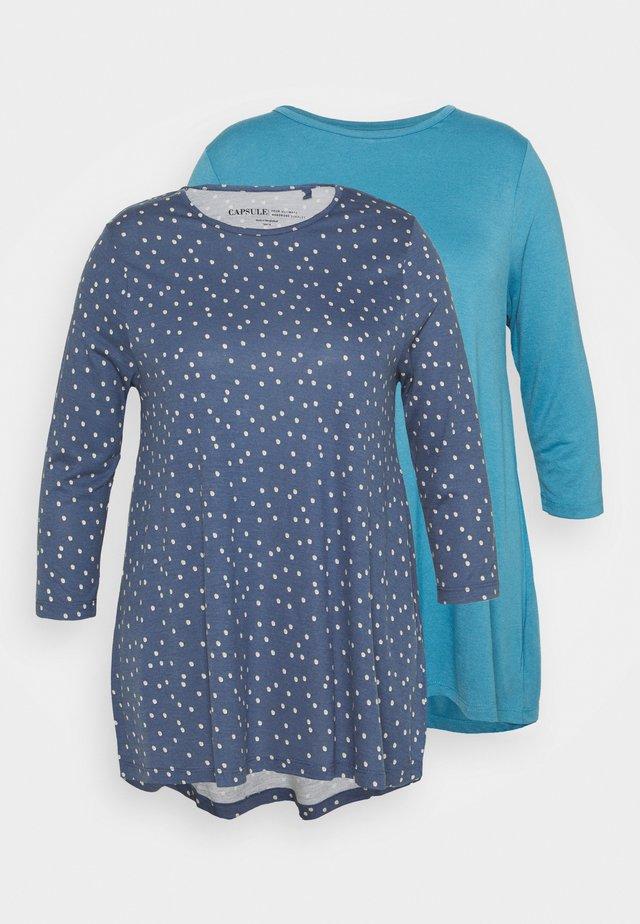 SWING TUNIC 2 PACK - T-shirt à manches longues - blue