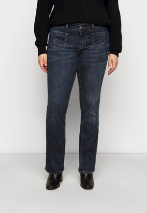 VMDINA - Flared jeans - dark blue denim