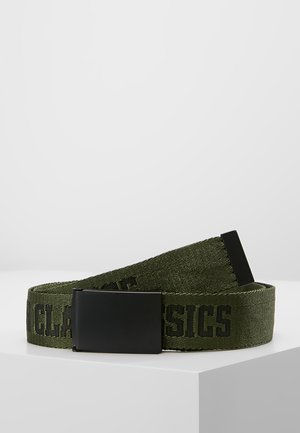 LOGO BELT - Riem - black/darkolive/black
