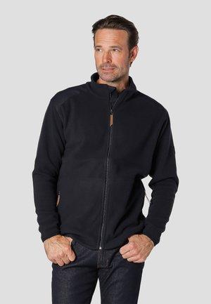 EDISON - Fleece jacket - ultra dark navy mix