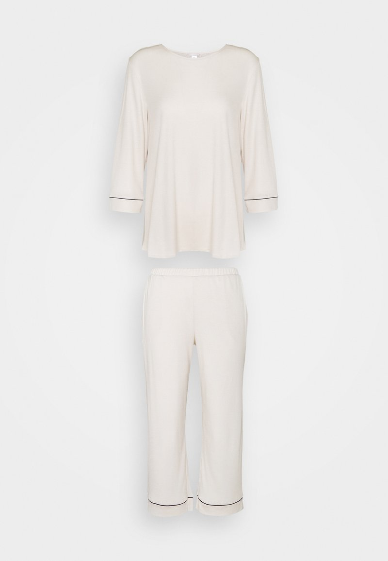 Hanro - NATURAL COMFORT CROPPED - Pyjamas - almond