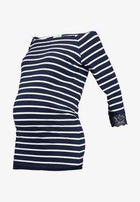 Anna Field MAMA - T-shirt à manches longues - off-white/dark blue - 4