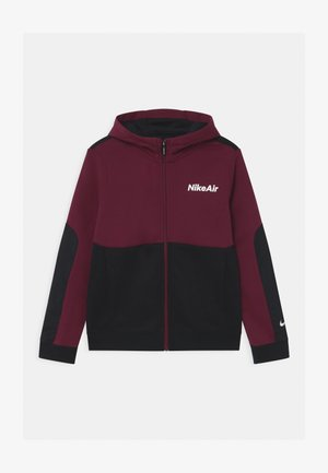 AIR HOODIE - Felpa aperta - dark beetroot/black