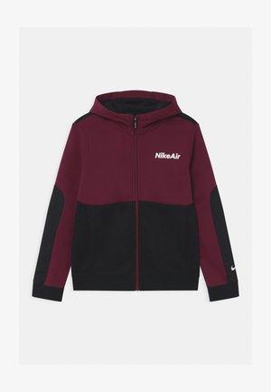 AIR HOODIE - Zip-up hoodie - dark beetroot/black