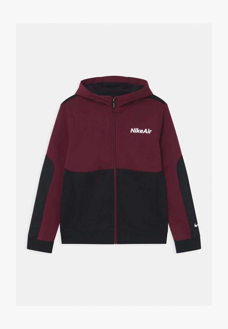 Nike Sportswear - AIR HOODIE - Zip-up hoodie - dark beetroot/black