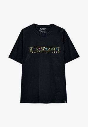 MIT STICKEREI - T-shirts print - black