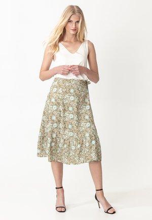 JAYLEE - Áčková sukně - green