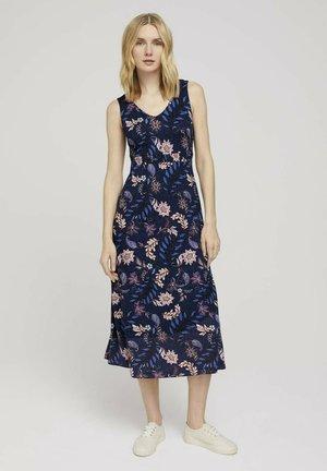 Day dress - navy floral design
