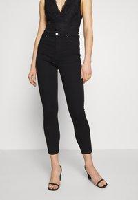 ONLY - ONLOPTION LIFE SUPER - Jeans Skinny Fit - black - 0