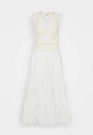 ABITO LUNGO IN MAGLIA TESSUTO - Day dress - neve