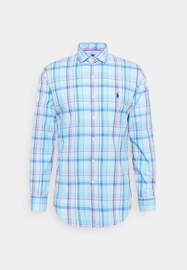 Polo Ralph Lauren NATURAL - Koszula - pink/blue/wielokolorowy Odzież Męska PBUC