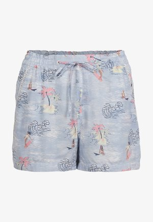 Shorts - blue with pink or purple