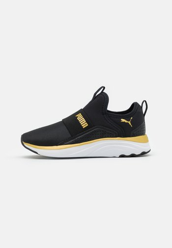 SOFTRIDE SOPHIA SLIP-ON SHINE - Sports shoes - black/team gold