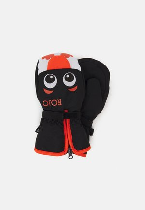 WOODLANDS MITT UNISEX - Mittens - blaock/orange