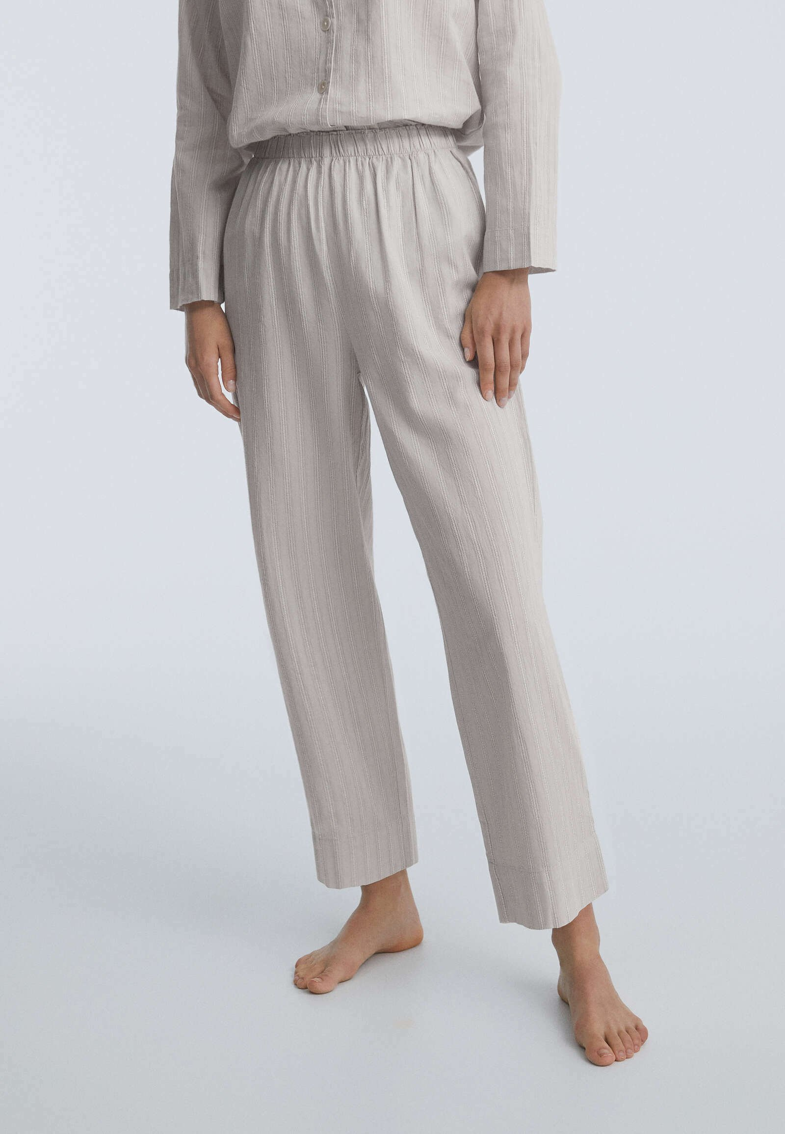Donna TEXTURED STRIPE  - Pantaloni del pigiama
