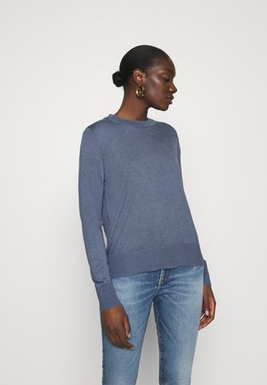 EASY CREW SOLIDS - Sweter - light blue