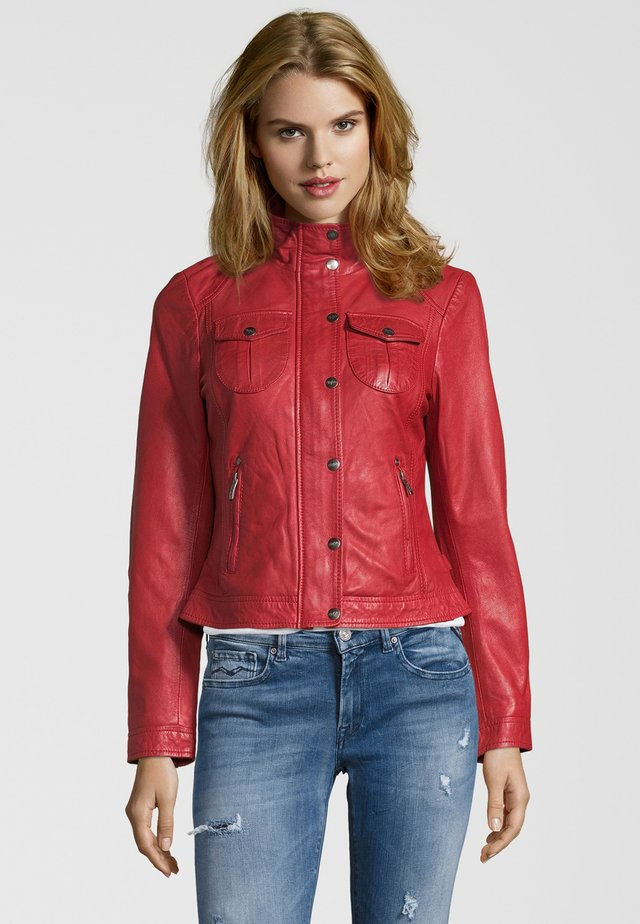 BE WONDERFUL - Leather jacket - red