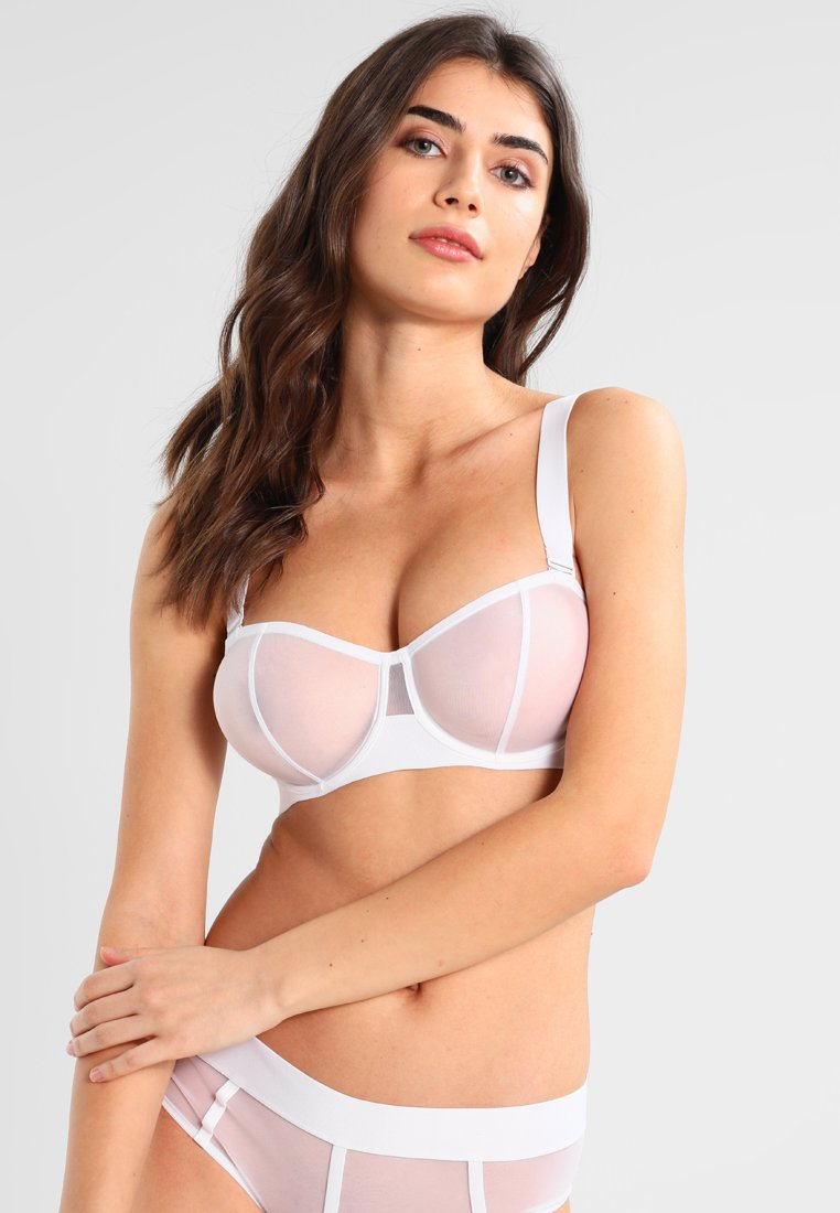 DKNY Intimates - SHEERS CONVERTIBLE STRAPLESS BRA - Bøyle-BH - white