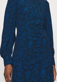 Gestuz - LORALIGZ MIDI DRESS - Day dress - blue/black vintage - 5