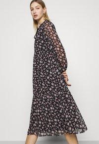 Vero Moda - VMFILIA TIE CALF DRESS - Day dress - black/rose - 4