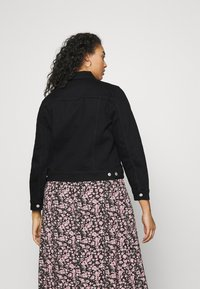 Selected Femme Curve - SLFTENNA JACKET - Denim jacket - black denim - 2