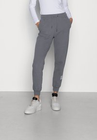 Calvin Klein Jeans - RELAXED FIT TRACK PANT - Tracksuit bottoms - shining armor - 0