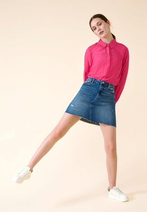Denim skirt - mid stoned