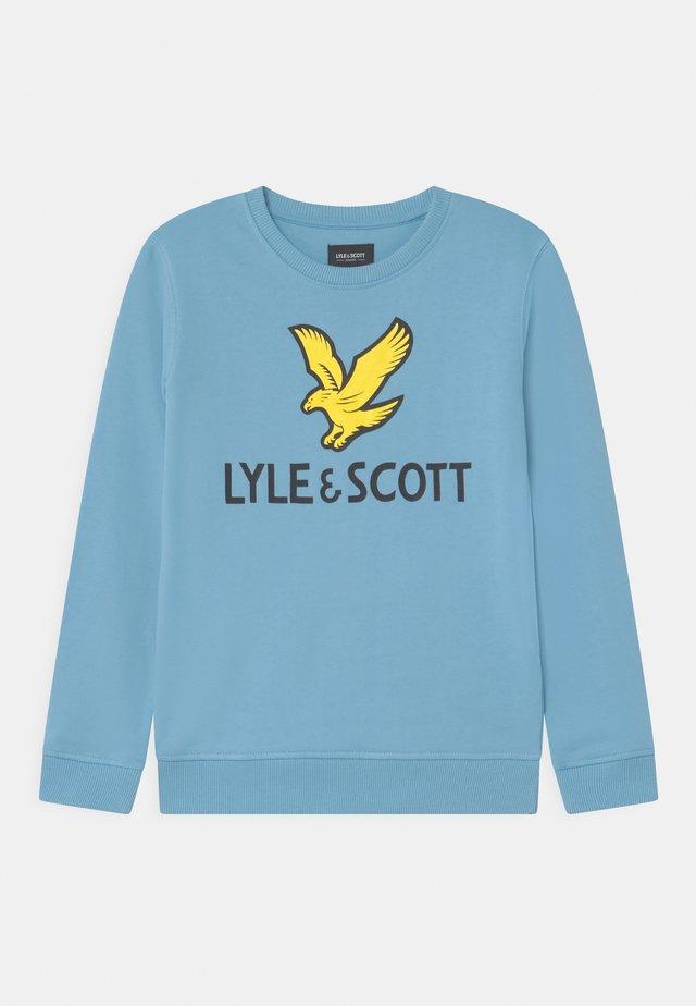 EAGLE LOGO CREW - Sweatshirt - sky blue