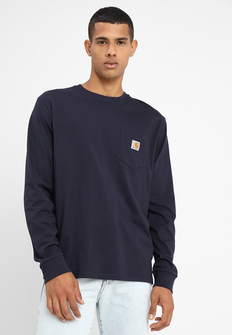 Carhartt WIP - POCKET  - Long sleeved top - dark navy