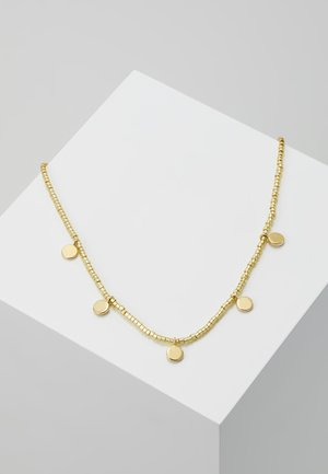 SEEDBEAD COIN COLLAR LENGTH - Necklace - pale gold-coloured