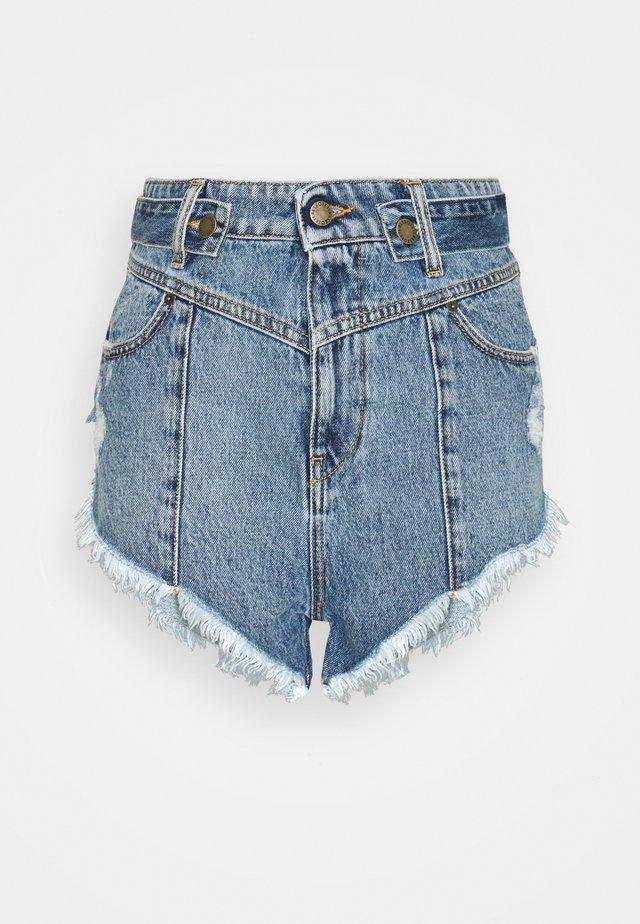 TESSA  - Denim shorts - blue