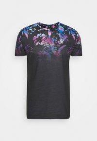 SIKSILK - HAWAII HIGH FADE TEE - Print T-shirt - black - 3
