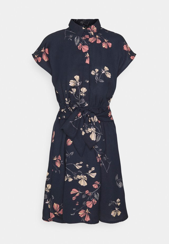 VMHALLIE TIE SHORT DRESS - Košilové šaty - night sky