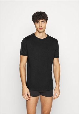 LOUNGE TEE - Pyjama top - black/dark blue