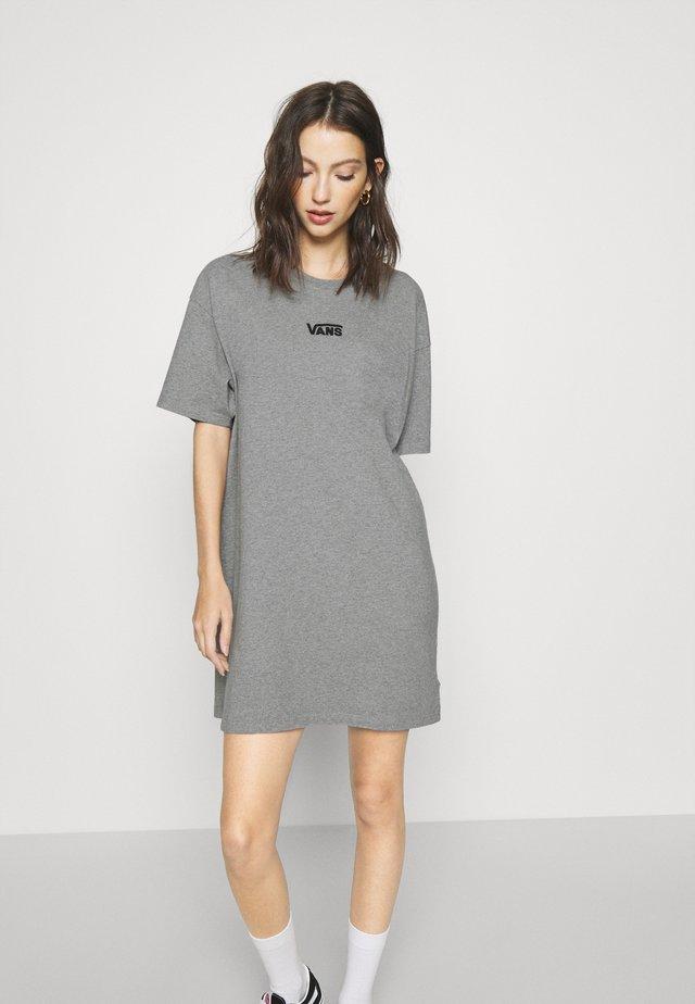 CENTER VEE TEE  - Sukienka z dżerseju - grey heather