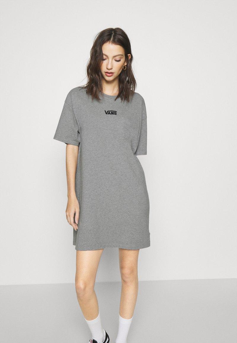 Vans - CENTER VEE TEE  - Jersey dress - grey heather