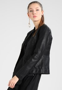 JDY - JDYDALLAS JACKET - Faux leather jacket - black - 0