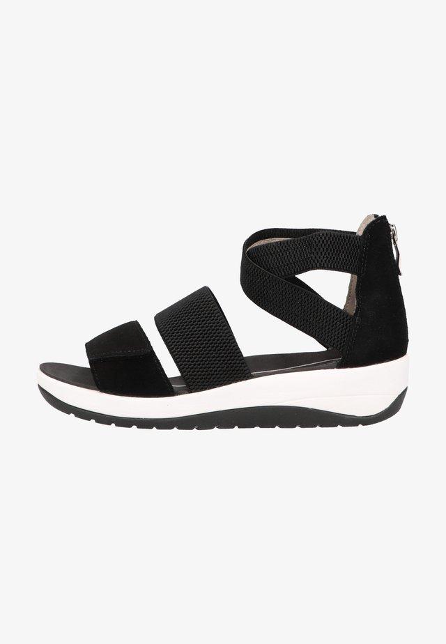 Sandały na koturnie - schwarz