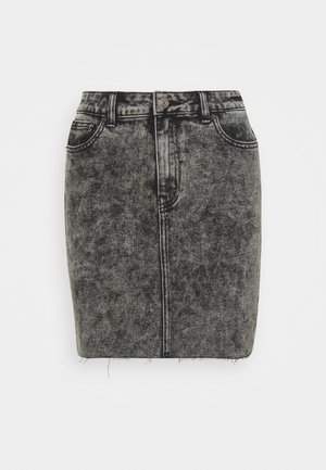 ONLEMILY  LIFE ACID SKIRT - Denim skirt - black