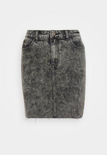 ONLEMILY  LIFE ACID SKIRT - Denimová sukně - black
