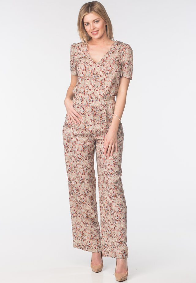 Overall / Jumpsuit - flower print
